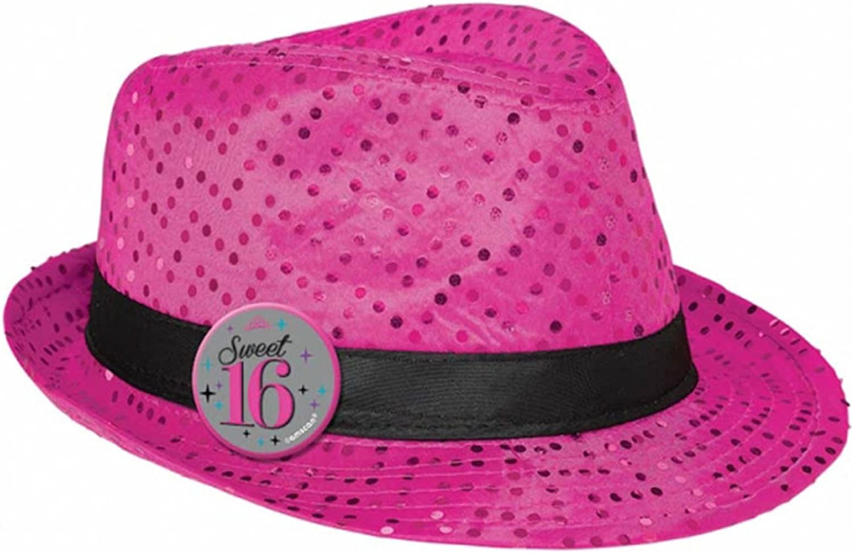 Amscan International Sweet 16 Fedora Hats