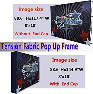 Picture Wall Art Your Photo on Custom 3x4 (8x10 with end caps) Printing Velrco Tension Fabric Backdrop Booth Frame Straight Pop Up Display Stand