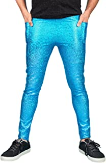Meggings With Pockets/Mens Leggings - 3 Colour Options - Holographic Gold, Holographic Black or Metallic Turquoise