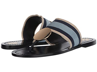 Tory Burch Patos Disk Sandal (Ivory/Navy/Blue Yonder/Perfect Navy) Women
