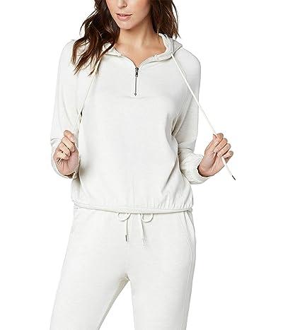 Liverpool Hooded Raglan Zip-Up Baby French Terry Sweatshirt (Heather Cream) Women