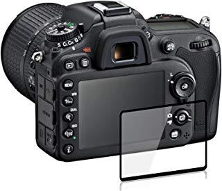 debous Frame Design Screen Protector Compatible Nikon d850, Anti-Scratch Optical Clear Hard Glass LCD Protective with pet Shoulder Screen Protective