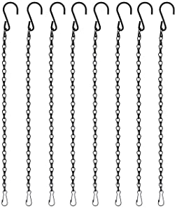 8pcs 19.7 inch/ 50cm Black Chains Flower Pot Basket Replacement Chain Hanger for Bird Feeders, Planters, Lanterns and...