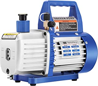 VIVOHOME 110V 1/4 HP 3.5 CFM Single Stage Rotary Vane Air Vacuum Pump with Oil Bottle