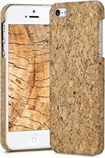 kwmobile Apple iPhone SE / 5 / 5S Case - Protective Cork Cover for Apple iPhone SE / 5 / 5S - Light Brown