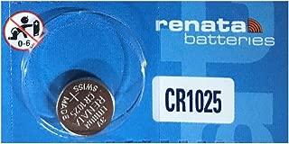Renata CR1025 Lithium Coin Batteries 5 Pack