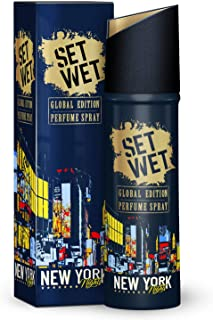 Set Wet Global Global Edition Perfume Spray For Men, New York Nights, 120 ml