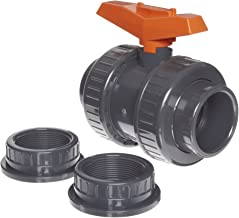 GF Piping Systems PVC True Union Ball Valve with Full Port, Two Piece, PTFE Seat, EPDM Seal, 2