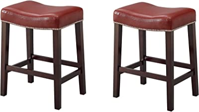 Amazon Com Bowery Hill 30 Quot Backless Bar Stools In Brown