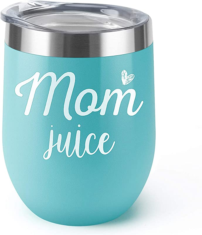Mom Juice Supkiir 12 Oz Wine Tumbler Double Wall Vacuum Insulated Wine Glasses With Lid Stainless Steel Cup For Wine Coffee Cocktails Perfect Mother S Day Christmas Gift