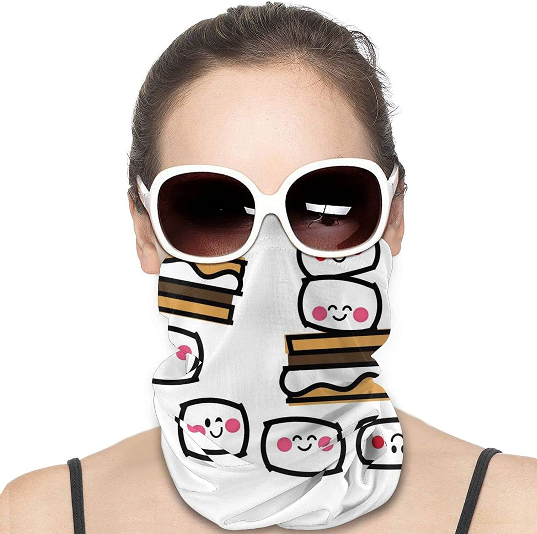Aloha Smores Neck Gaiter Windproof Face Cover Balaclava Outdoors Magic Scarf Headband for Men Women Motorcycling Fishing Running Climbing