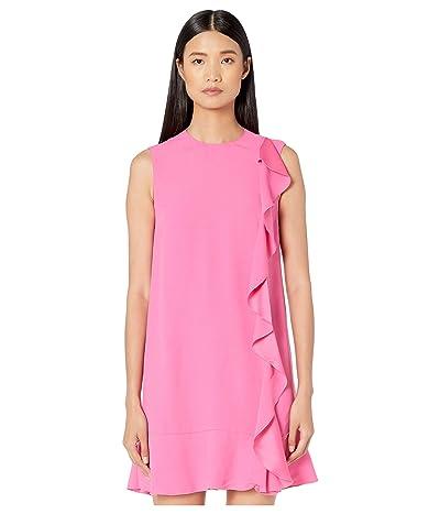 RED VALENTINO Crepe Envers Satin Dress (Sunrise Pink) Women