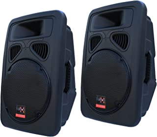 "E-lektron 2 X JP30 1600W DJ Powerful 12 inch 2 Way PA Speaker Box Passive 30CM 12"" woofer with 2X5M Speakon Cables"