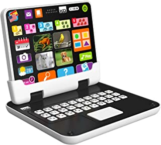 Primera tableta 2 en 1 para niños Kidz Delight Tech, color negro