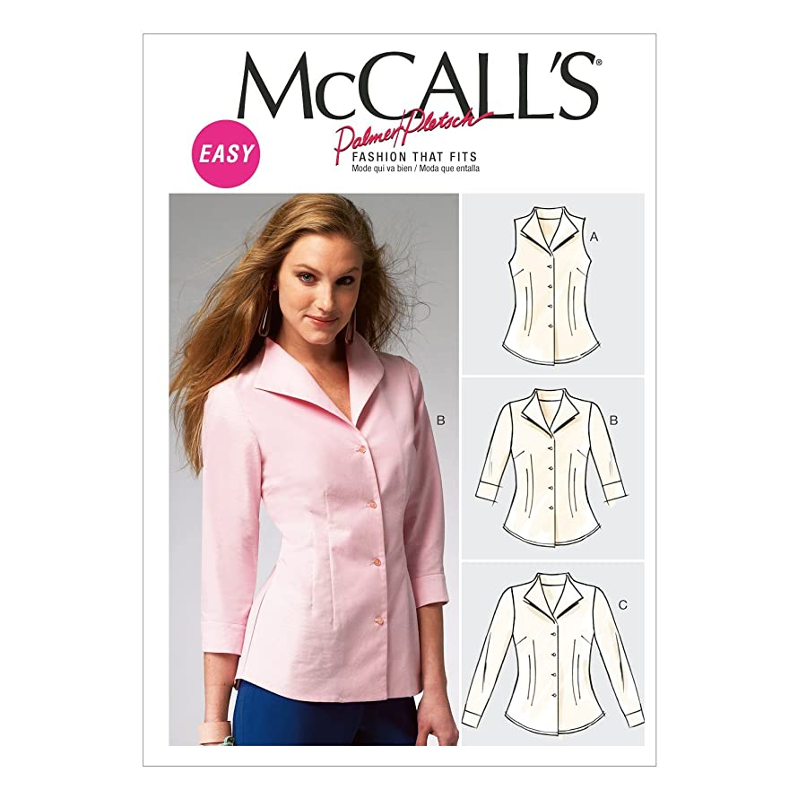 McCall Pattern Company M6750 Misses' Shirts Sewing Template, Size B5 (8-10-12-14-16)