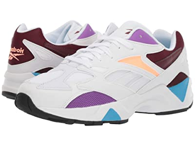 Reebok Lifestyle Aztrek 96 Reinvented (White/Porcelain/Lux Maroon) Athletic Shoes