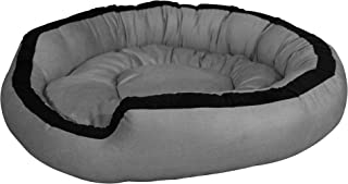 Hiputee Luxurious & Durable Polyester Filled Soft Dual Colour Dog/Cat Bed (XXL, Grey)
