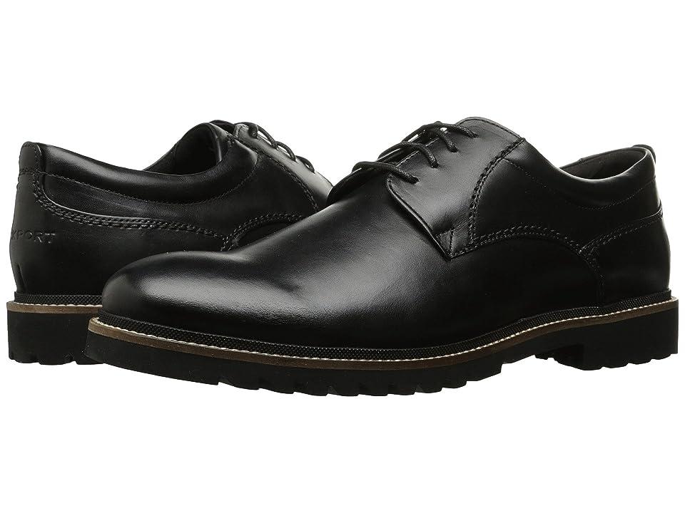 Rockport Marshall Plain Toe Oxford (Black Leather) Men
