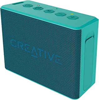 Creative MUVO 2c Palm Sized Water Resistant Bluetooth Speaker with Built-In MP3 Player - Turquoise