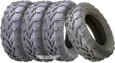 Set of 4 WANDA ATV tires 25x10-12 P350 for 09-13 Honda Big Red MUV