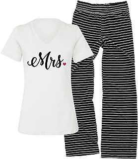 Status Update Mrs. Striped Pajama Set