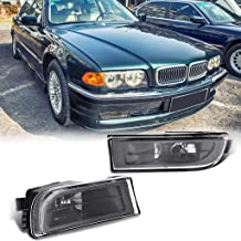 Rigel7 Pair Clear Lens Fog Bumper Light Lamp Housing Without Bulb Compatible with 1995-2001 BMW E38 7-Serise 740i 750iL Car Parts Accessories