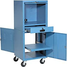 Global Industrial Mobile Security Computer Cabinet, Blue, 24-1/2