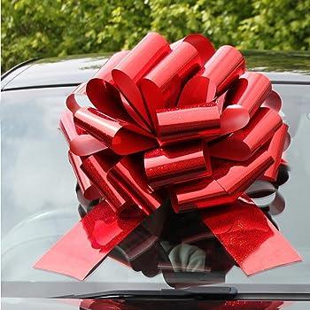50mm Gold Silver Pull Bows Ribbon Car Decorations Gift wrap Christmas Xmas Decor