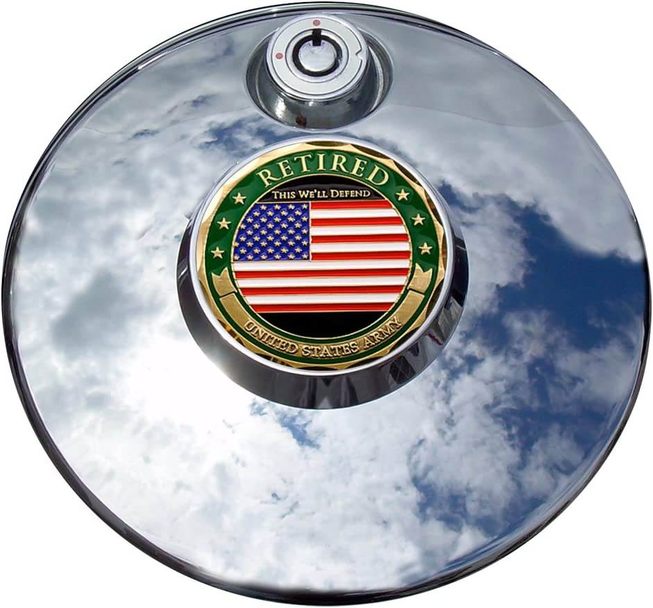 MotorDog69 Retired Army Harley Fuel Mount Coin Cover Lowest price challenge Door Setâ35% OFF