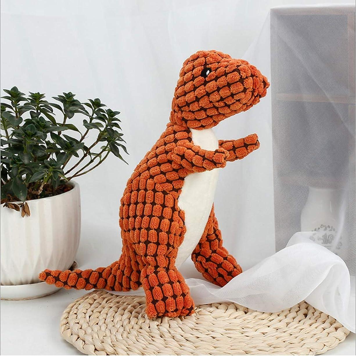 ぶどう独立したしなければならないYiteng 犬用おもちゃ 犬玩具 恐竜おもちゃ 噛むおもちゃ ストレス解消 歯ぎ清潔 ぬいぐるみ 丈夫 発声装置搭載 運動不足 ペットトイ ペット用品 オレンジ