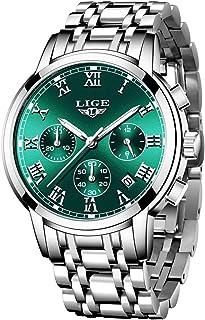 Watch Men Fashion Sport Quartz Clock Mens Full Steel Dress Watches Top Brand LIGE Luxury Business Waterproof Wristwatch Bl...