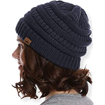 Tough Headwear Womens Cable Knit Beanie - Warm & Soft Stretch Winter Hats - Chunky Knitted Caps for Cold Weather