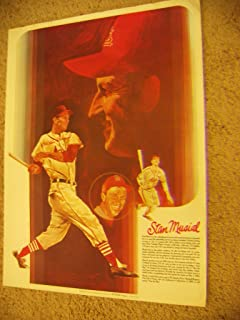 * STAN MUSIAL * Cardinals signed 1980`s Coca Cola poster / UACC Registered Dealer # 212