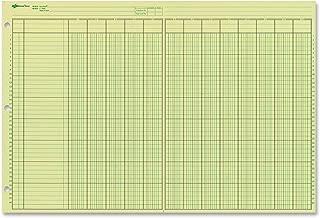 NATIONAL Analysis Pad, 13 Columns, Green Paper, 11 x 16.375