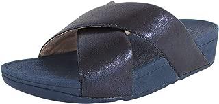 Womens Lulu Cross Glitz Slide Sandal Shoes