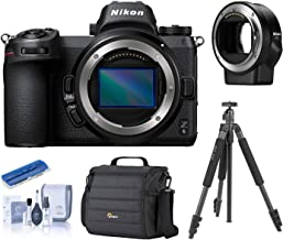 Nikon Z6 FX-Format Mirrorless Digital Camera Body with Mount Adapter FTZ, Bundle with Camera Bag, Slik Sprint Pro II Aluminum Tripod with SBH-100DQ Ball Head, Cleaning Kit, Card Reader