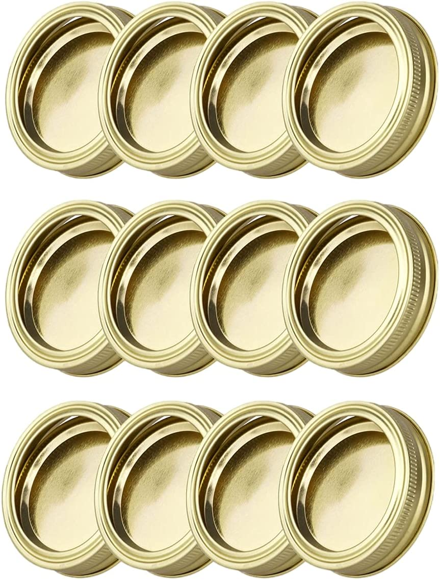NEW before selling BRZAN Regular Mouth Mason Canning Steel Can 12Pcs Lids Popular products Stainless