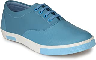 HEEDERIN Men's Sky Blue Synthetic Lace up Perfect Style Sneaker 8 UK
