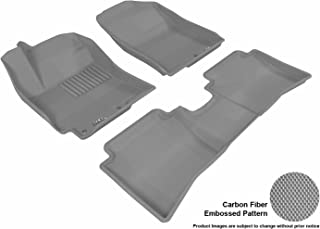 3D MAXpider Complete Set Custom Fit All-Weather Floor Mat for Select Hyundai Accent Models - Kagu Rubber (Gray)