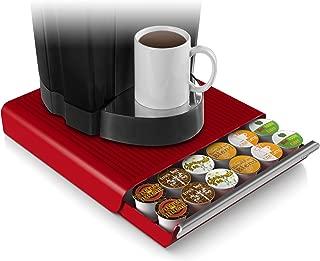 Mind Reader 36 Capacity K-Cup Single Serve Coffee Pod Storage Drawer Organizer, Red