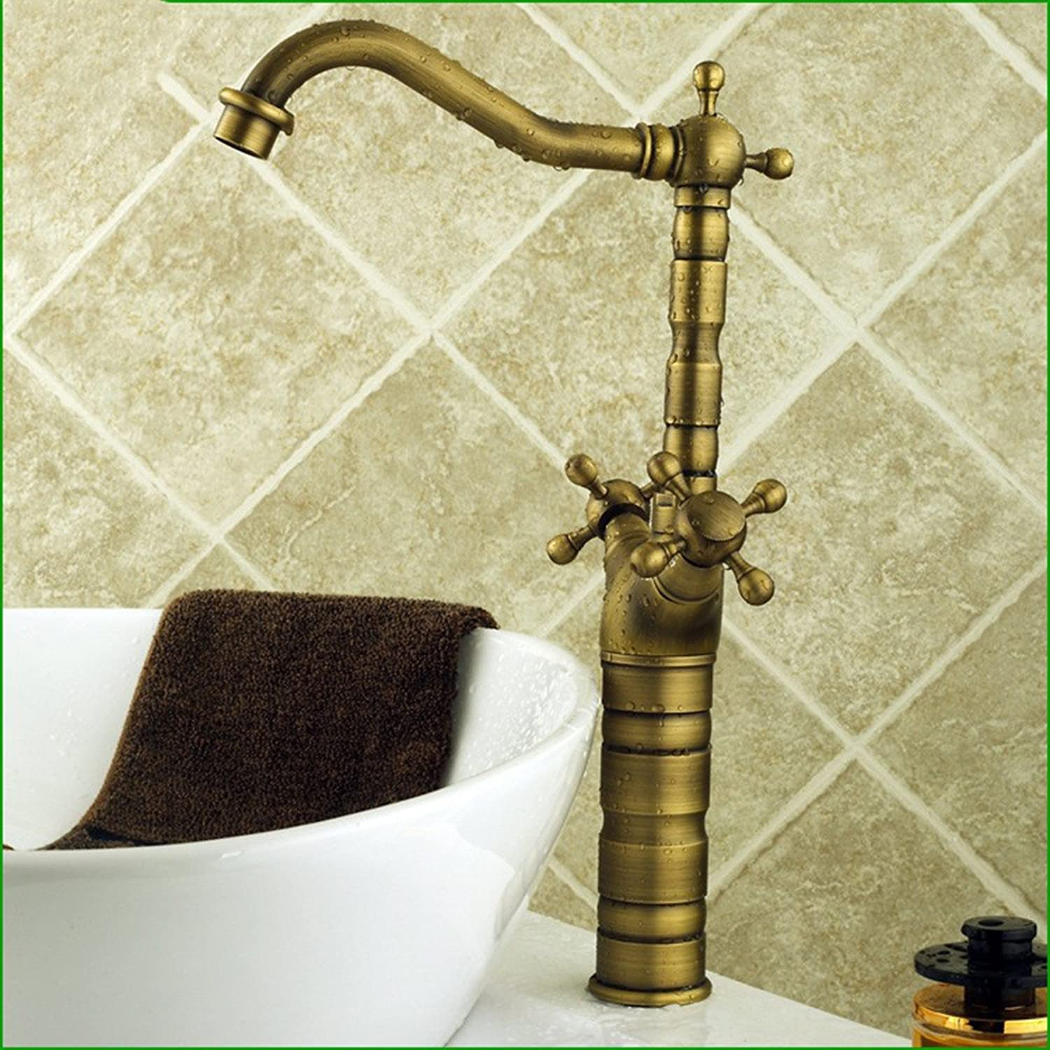 Hlluya Professional Sink Mixer Tap Kitchen Faucet All copper antique brushed sink basin Faucet