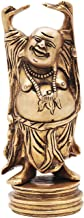 Buddha4all A Laughing Buddha for Wealth and Happiness Big Statue Brass,(W-1Kg H-6'')