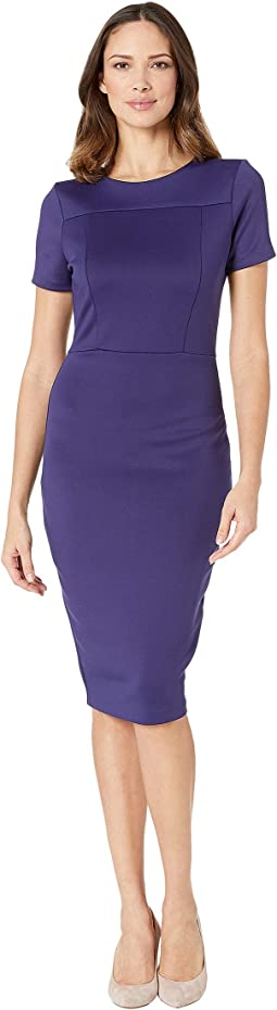 Scuba Midi Sheath Dress