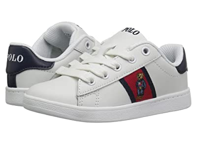 Polo Ralph Lauren Kids Quilton Bear (Toddler) (White Leather/Red/Navy Striping and Americana Boy Bear) Boy