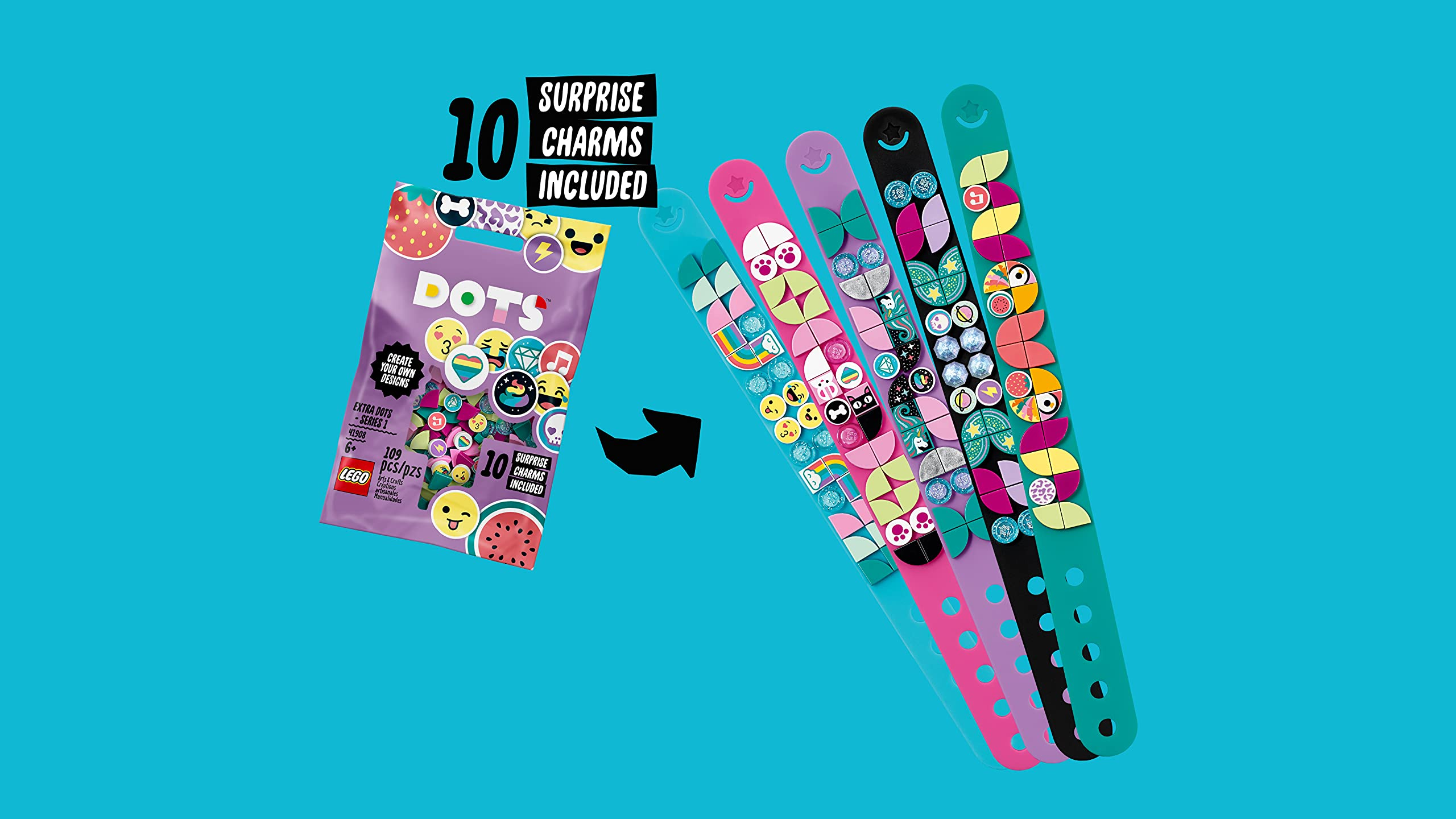LEGO 41908 DOTS Extra Dots Set Series 1 with 10 Surprise Charms