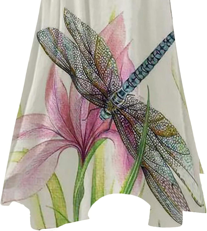 ESULOMP Maxi Dresses for Womens Summer Casual Long Sleeve Plus Size Dress Loose Hem Retro Long Dress with Pockets