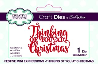 Creative Expressions Festive Mini Expressions Thinking of You at Christmas Craft Die, CEDME037