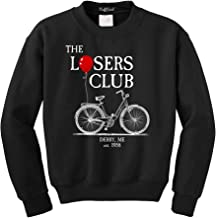 NuffSaid The Losers Club Bicycle - Classic 80's Horror Pullover Sweatshirt - Graphic Pennywise The Clown Crewneck