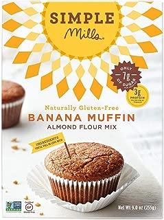 Simple Mills Almond Flour, Paleo Banana Muffin Mix, 9 Ounce