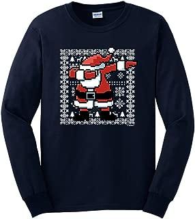 Dabbing Santa Claus Ugly Christmas Sweater Themed Long Sleeve T-Shirt